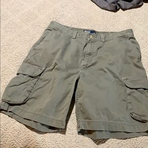 Men's Polo cargo shorts fatigue color, 38 waist.